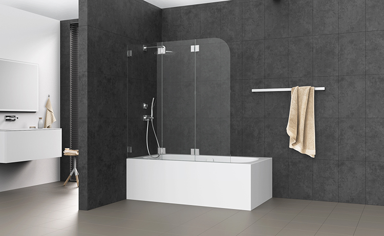 rubin faltwand 3 teilig auf badewanne bekon koralle ag. Black Bedroom Furniture Sets. Home Design Ideas