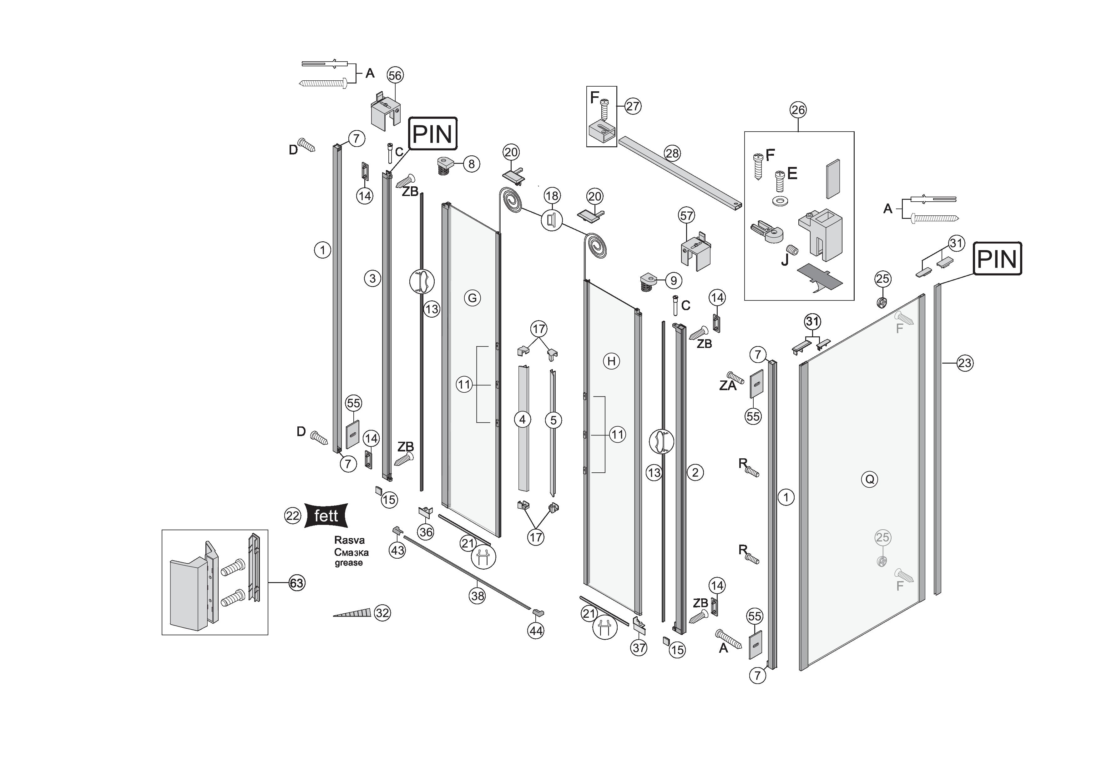 koralle dusche ersatzteile. Black Bedroom Furniture Sets. Home Design Ideas