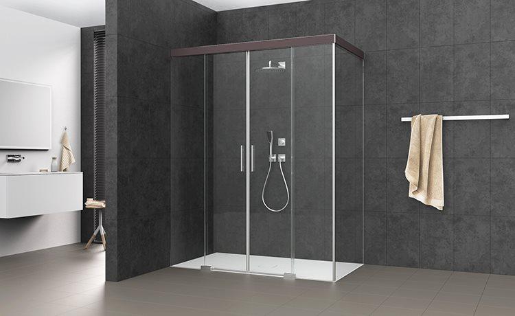 s606 porte coulissante en 4 parties avec paroi lat rale. Black Bedroom Furniture Sets. Home Design Ideas