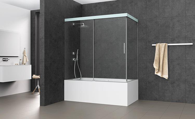 s606plus porte coulissante en 2 parties sur baignoire avec paroi lat rale bekon koralle ag. Black Bedroom Furniture Sets. Home Design Ideas