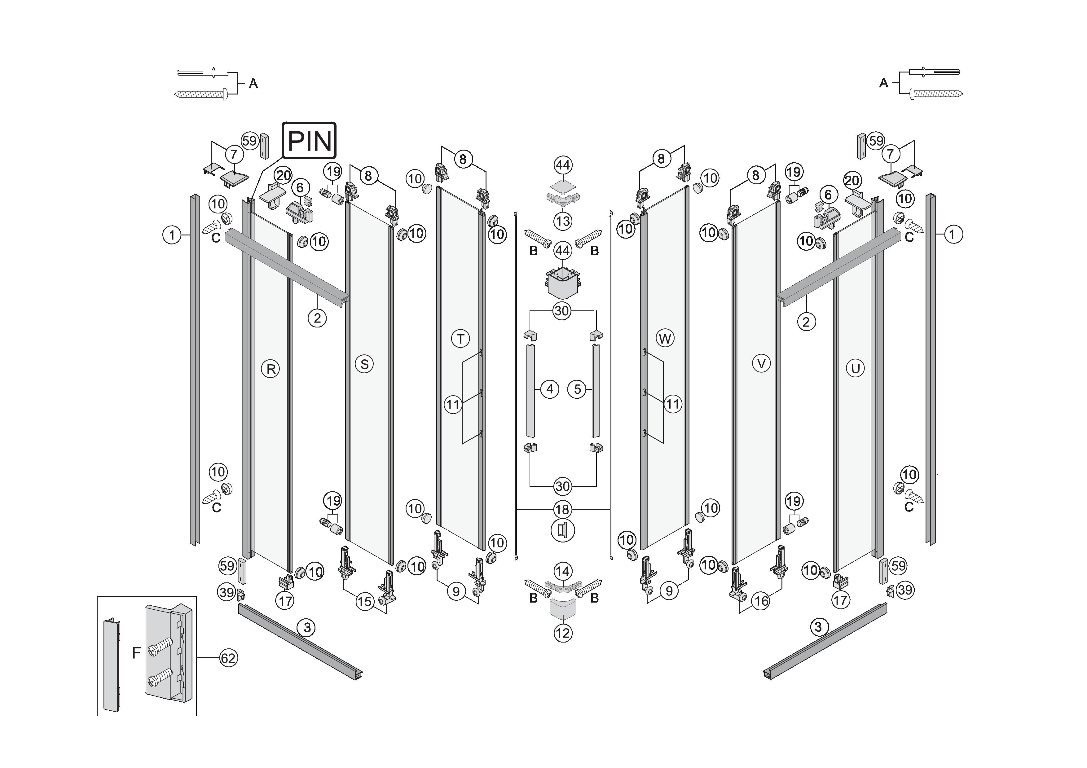 Ersatzteile Fur S400 Eckdusche Mit Schiebeturen 3 Teilig Bekon